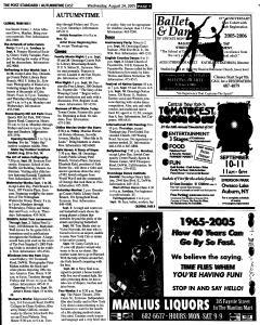 Syracuse Post Standard, August 24, 2005, Page 63