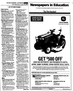 Syracuse Post Standard, August 24, 2005, Page 65