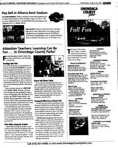 Syracuse Post Standard, August 24, 2005, Page 78