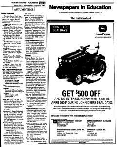 Syracuse Post Standard, August 24, 2005, Page 104