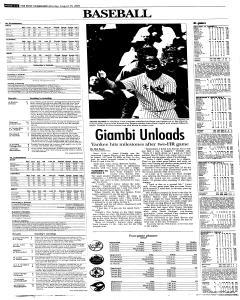 Syracuse Post Standard, August 29, 2005, Page 22
