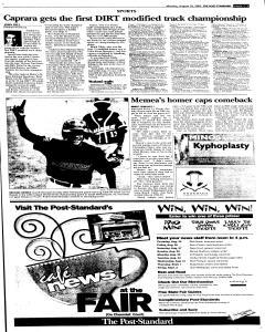 Syracuse Post Standard, August 29, 2005, Page 21