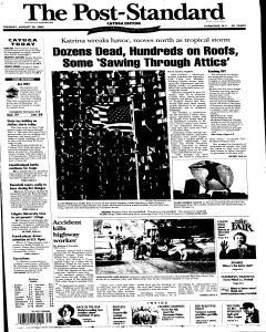 Syracuse Post Standard, August 30, 2005, Page 53