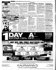 Syracuse Post Standard, September 10, 2005, Page 10