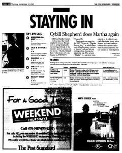 Syracuse Post Standard, September 22, 2005, Page 84