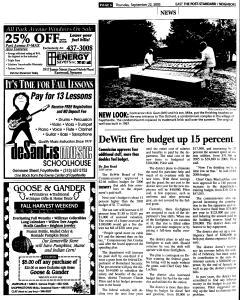 Syracuse Post Standard, September 22, 2005, Page 94