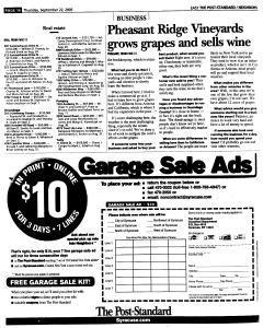 Syracuse Post Standard, September 22, 2005, Page 104