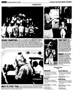 Syracuse Post Standard, September 22, 2005, Page 142
