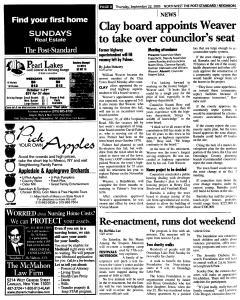 Syracuse Post Standard, September 22, 2005, Page 164