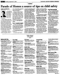 Syracuse Post Standard, September 22, 2005, Page 170