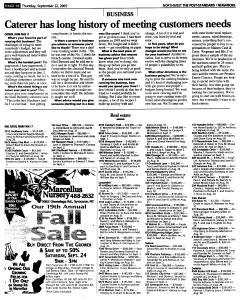 Syracuse Post Standard, September 22, 2005, Page 174