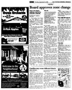 Syracuse Post Standard, September 22, 2005, Page 227