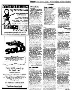 Syracuse Post Standard, September 22, 2005, Page 358