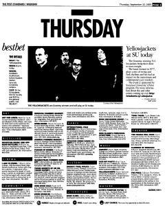 Syracuse Post Standard, September 22, 2005, Page 59