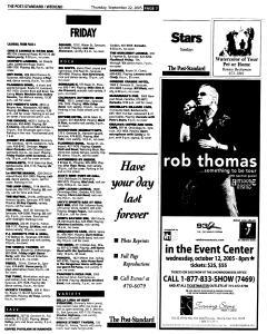 Syracuse Post Standard, September 22, 2005, Page 63