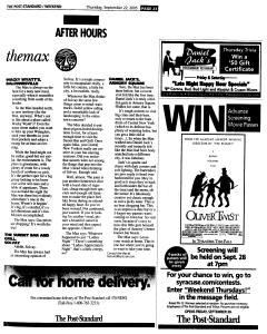 Syracuse Post Standard, September 22, 2005, Page 79