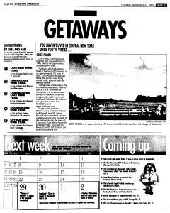 Syracuse Post Standard, September 22, 2005, Page 87