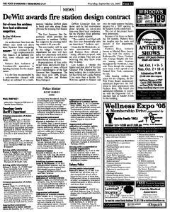 Syracuse Post Standard, September 22, 2005, Page 99
