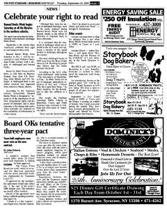Syracuse Post Standard, September 22, 2005, Page 127