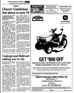 Syracuse Post Standard, September 22, 2005, Page 131