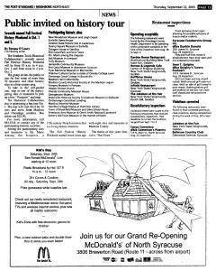 Syracuse Post Standard, September 22, 2005, Page 133