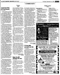 Syracuse Post Standard, September 22, 2005, Page 149