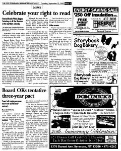 Syracuse Post Standard, September 22, 2005, Page 163