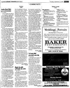 Syracuse Post Standard, September 22, 2005, Page 185