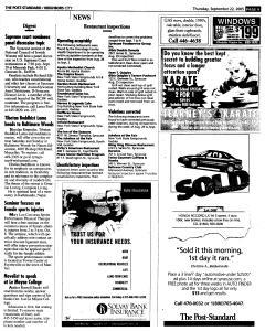 Syracuse Post Standard, September 22, 2005, Page 201