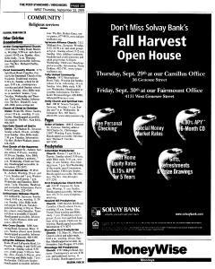 Syracuse Post Standard, September 22, 2005, Page 251