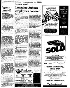Syracuse Post Standard, September 22, 2005, Page 337
