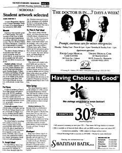Syracuse Post Standard, September 22, 2005, Page 339