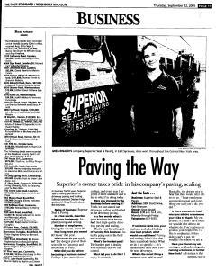 Syracuse Post Standard, September 22, 2005, Page 355