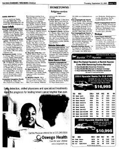 Syracuse Post Standard, September 22, 2005, Page 375