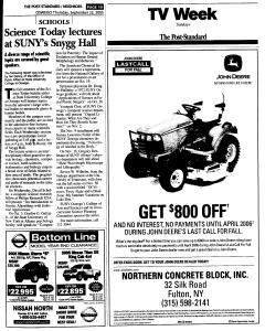 Syracuse Post Standard, September 22, 2005, Page 379
