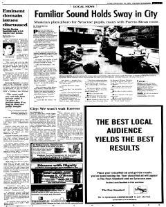 Syracuse Post Standard, September 23, 2005, Page 15