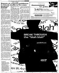 Syracuse Post Standard, September 25, 2005, Page 22