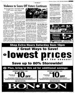 Syracuse Post Standard, October 01, 2005, p. 3