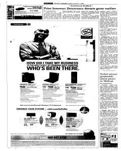 Syracuse Post Standard, October 11, 2005, Page 96