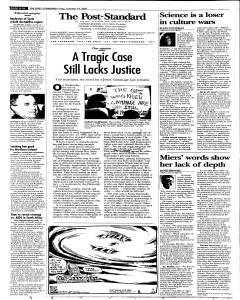 Syracuse Post Standard, October 14, 2005, Page 10