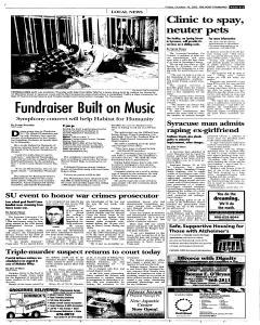 Syracuse Post Standard, October 14, 2005, Page 15