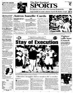 Syracuse Post Standard, October 14, 2005, Page 19