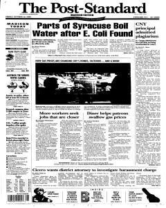 Syracuse Post Standard, October 14, 2005, Page 73