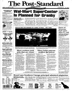 Syracuse Post Standard, October 14, 2005, Page 91