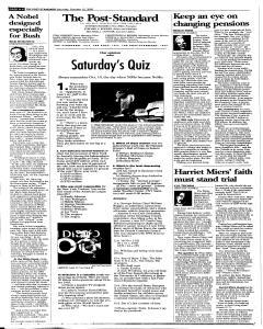 Syracuse Post Standard, October 15, 2005, Page 102