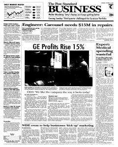 Syracuse Post Standard, October 15, 2005, Page 15