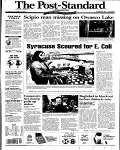 Syracuse Post Standard, October 15, 2005, Page 55