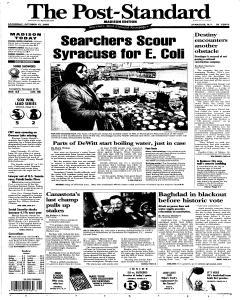 Syracuse Post Standard, October 15, 2005, Page 69