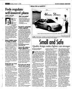 Syracuse Post Standard, October 17, 2005, Page 61