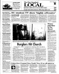 Syracuse Post Standard, October 19, 2005, Page 15